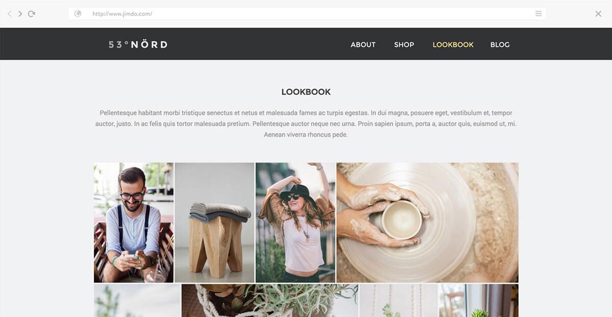 Jimdo Beispiel Webseite