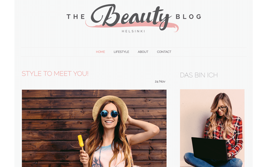 Beauty Website Design