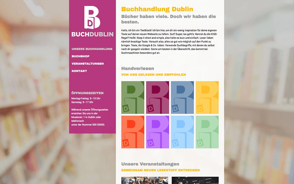 Buchhandlung Webshop Design