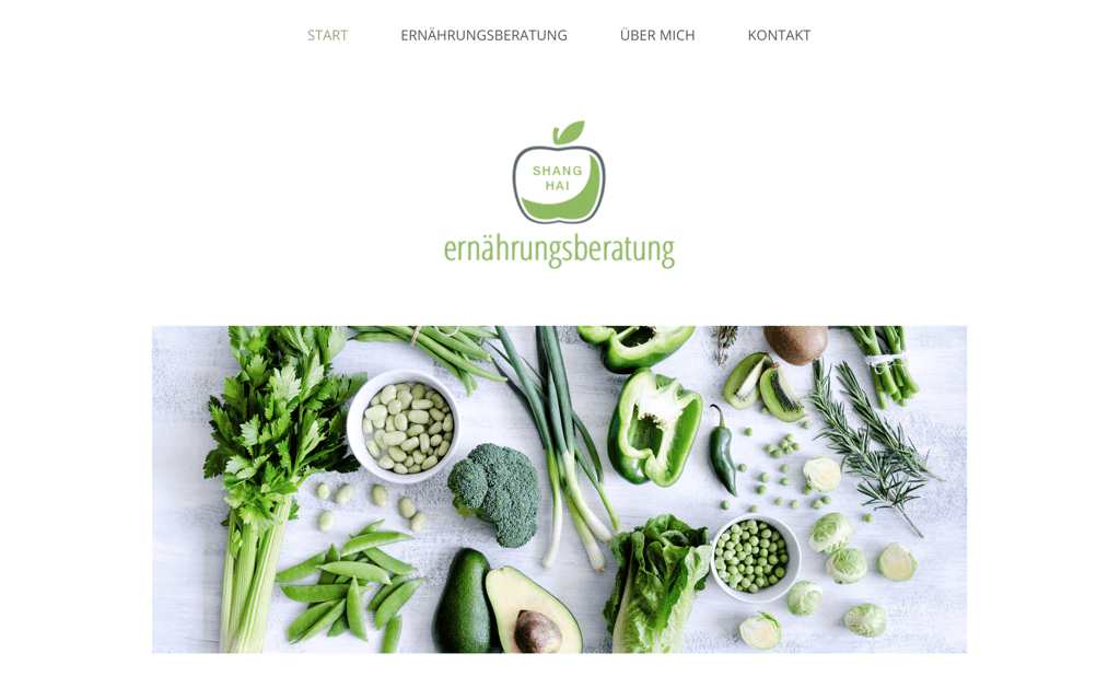 Ernährungsberatung Website Design
