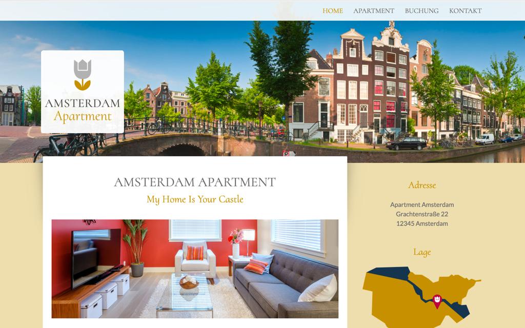 Ferienwohnung Website Design