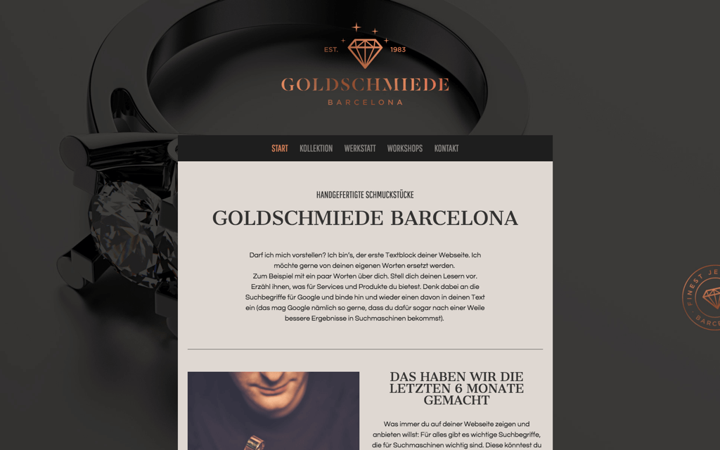 Goldschmiede Website Design