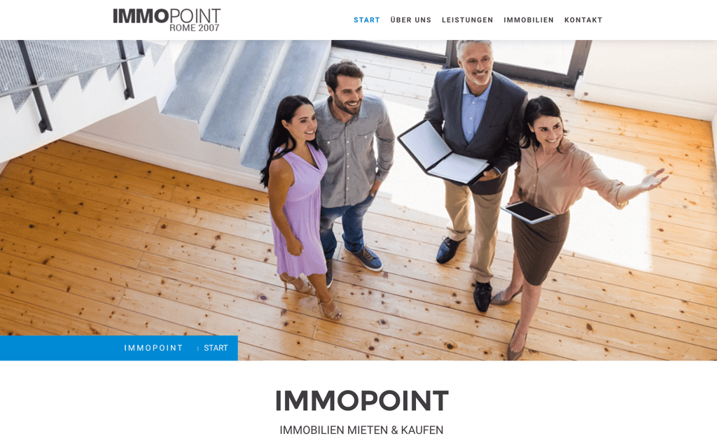 Immobilien Website Design