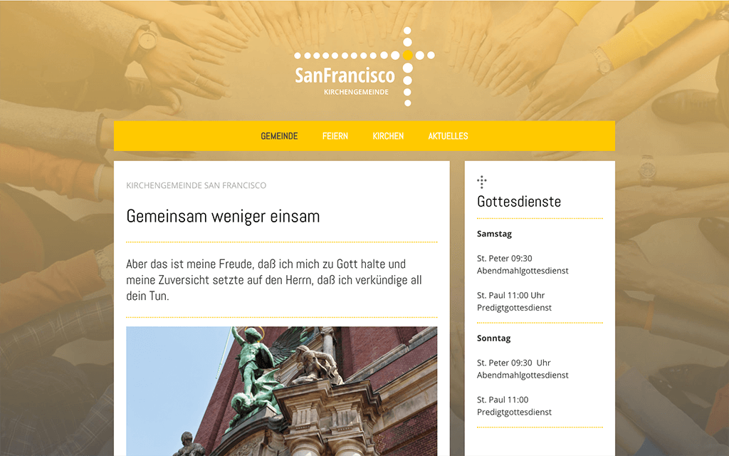Kirchengemeinde Website Design