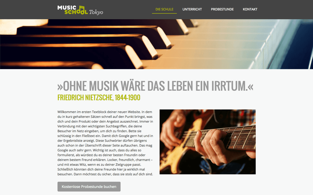 Musikschule Website Design