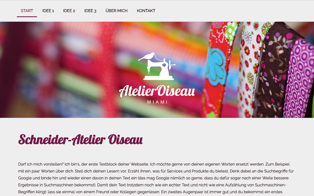 Näherin Website Design