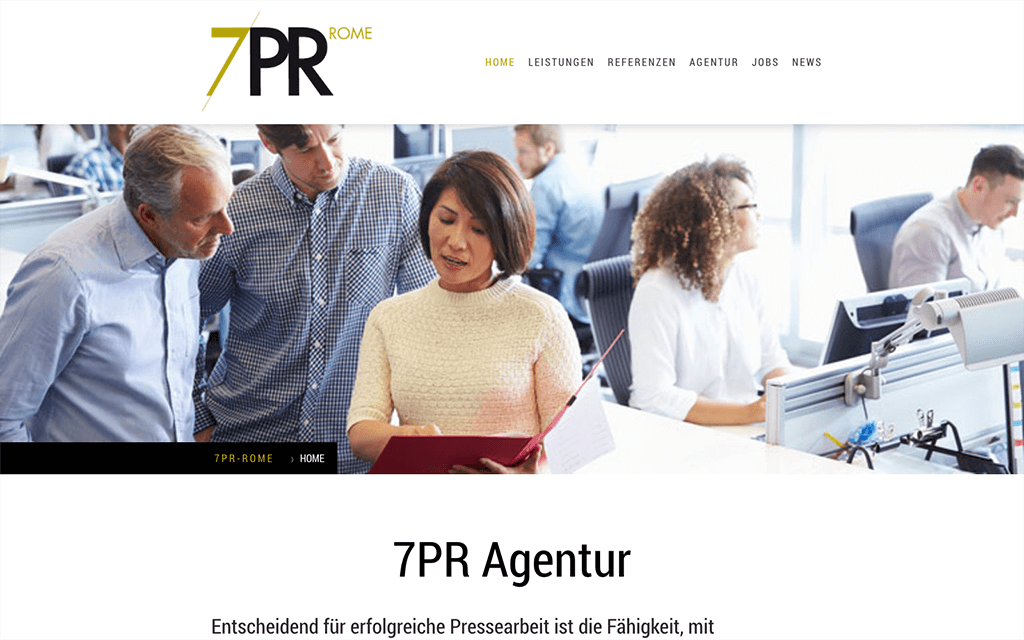 PR Agentur Website Design