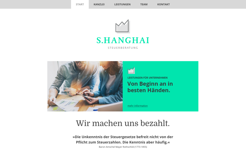 Steuerberatung Website Design