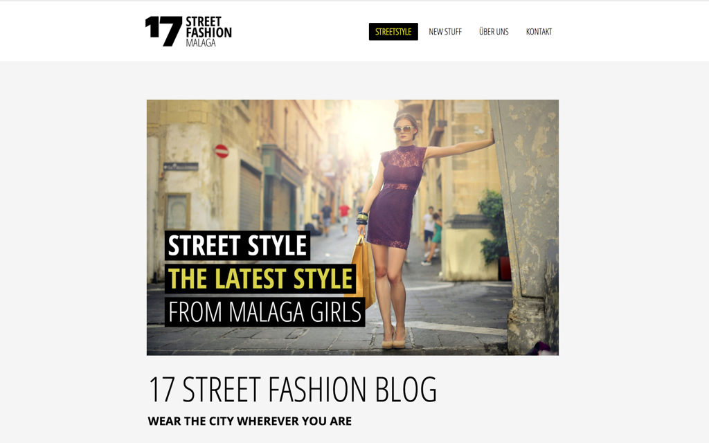 Streetfashion Website Design