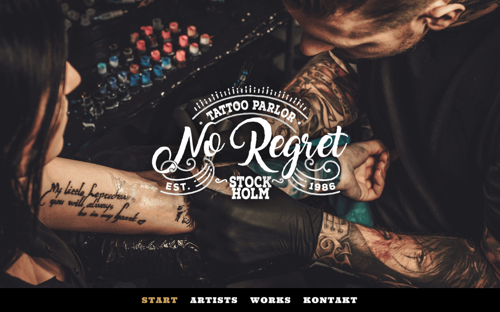 Tattoo Studio Website Design