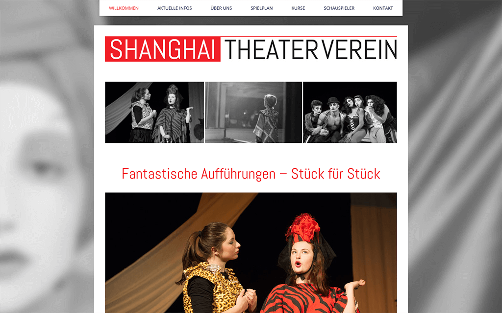 Theaterverein Website Design