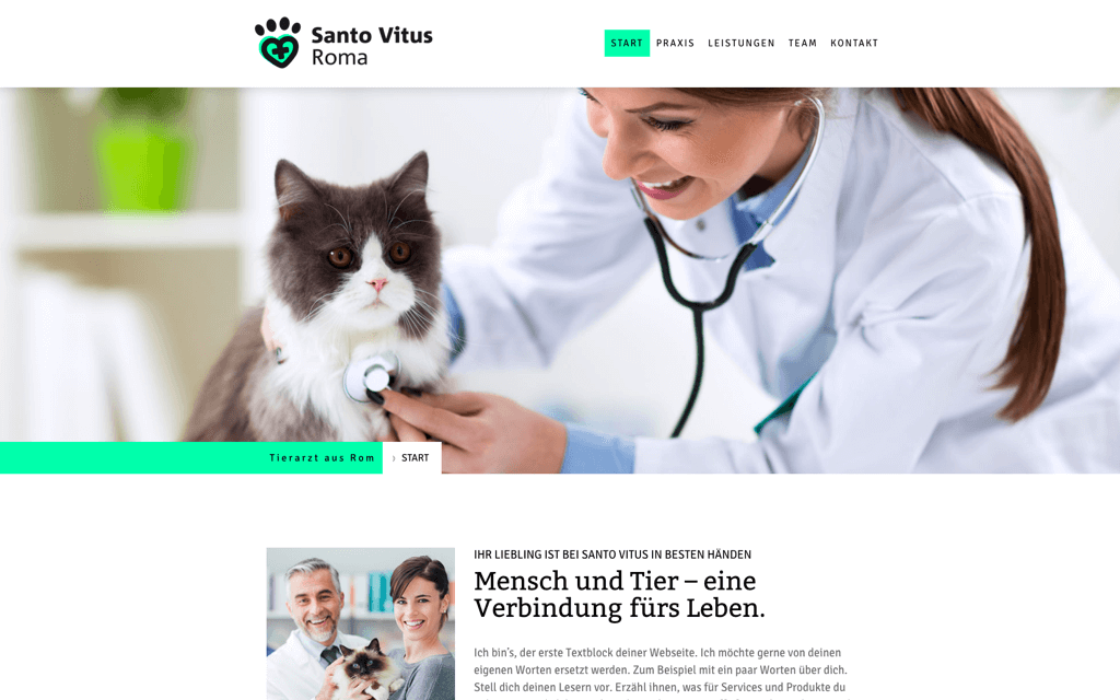 Tierarzt Website Design