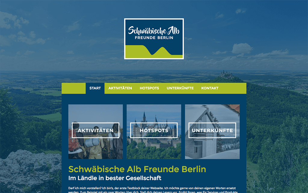 Tourismus Website Design