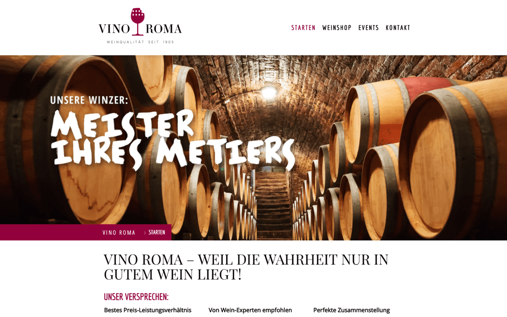 Weinhandel Website Design