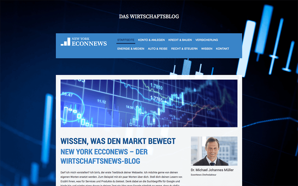 Wirtschaftsnews Website Design