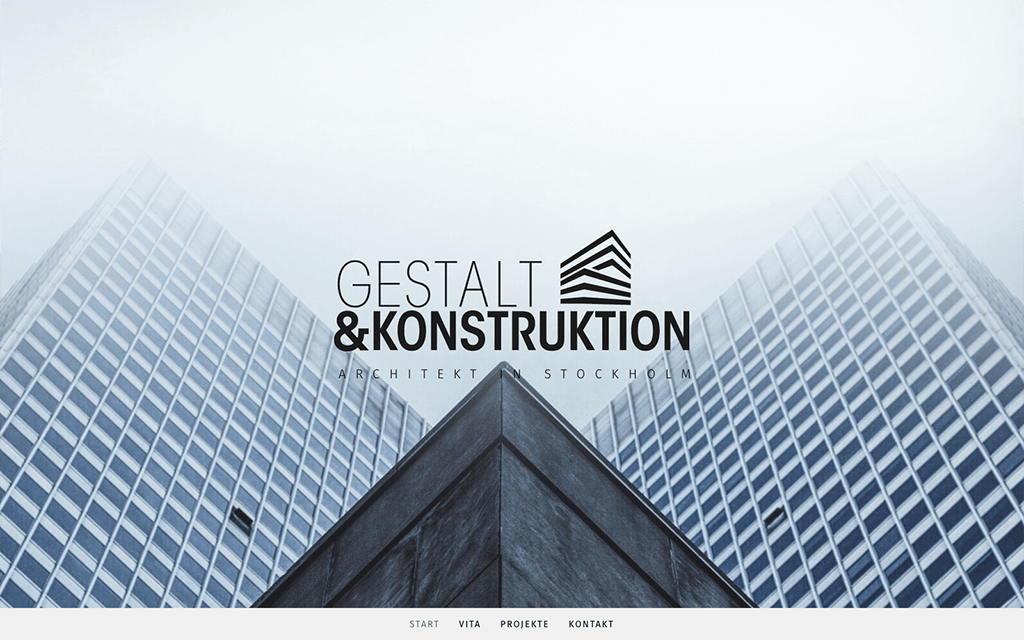 Architektportfolio Website Design