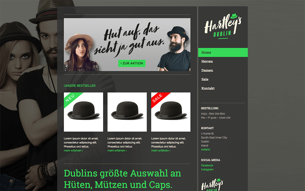 Hutshop Website Design