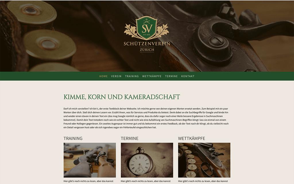 Schützenverein Website Design